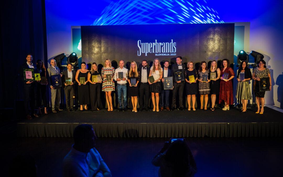 Superbrands 2021: Čestitke prejemnikom priznanj in uglednega naziva na področju znamčenja